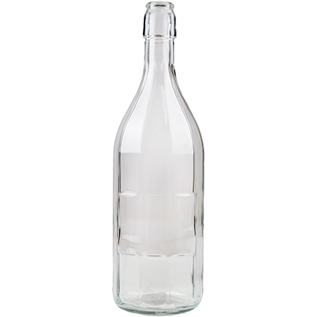 Saftflasche 10-Kantform mit Buegelverschluss 750ml