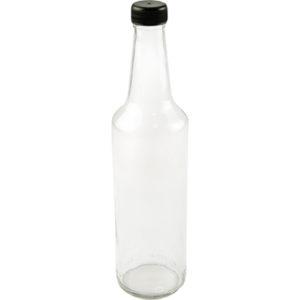 Geradehalsflasche mit Schraubverschluss schwarz