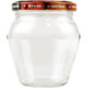 Geleeglas mit Schraubdeckel Obstdekor - 212ml