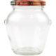 Geleeglas mit Schraubdeckel Obstdekor - 314ml