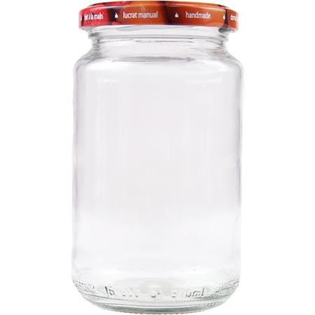 Vorratsglas mit Schraubdeckel Obstdekor - 370ml
