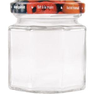 Vorratsglas 8-Kantform mit Schraubdeckel Obstdekor - 100ml
