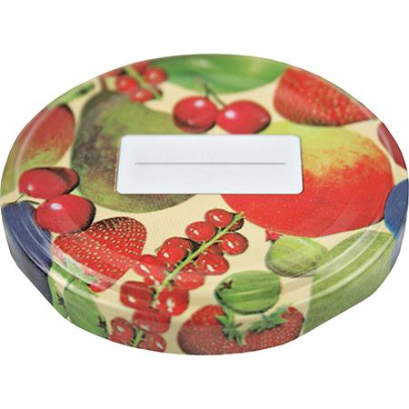 Schraubdeckel Obstdekor inkl. Beschriftung