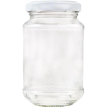 Vorratsglas mit Schraubdeckel in weiss - 215ml