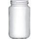 Vorratsglas mit Schraubdeckel in weiss - 370ml