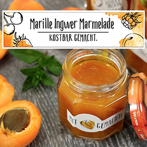 Marillen Ingwer Marmelade
